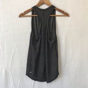 Lululemon Hot Like Agni Singlet Heathered Black